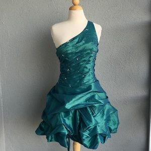 Laced up puffed Beaded Dress Size 10